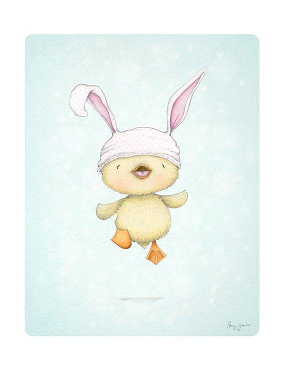 art print children's wall art duckling spring by staceyyacula