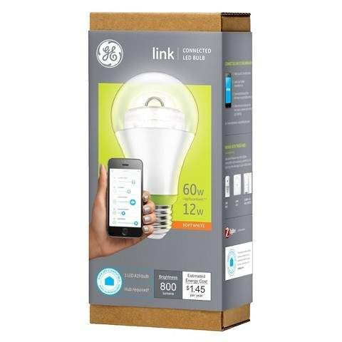GE Link / Connected (Zigbee) LED Lighting. A19 Bulb $11.99 at Target and 10.79 at Home Depot (using HD's price-m... #LavaHot http://www.lavahotdeals.com/us/cheap/ge-link-connected-zigbee-led-lighting-a19-bulb/59491