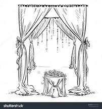 Wedding Arch Altar Decoration Vector Sketch Design Element Preview Save To ...