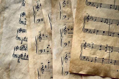 Old music sheet papers are perfect for any project. Don't have any? Search our Piano Decor and DIY board to see how you can make new pages look old