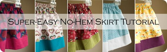 Quick and Easy No-Hem Skirt