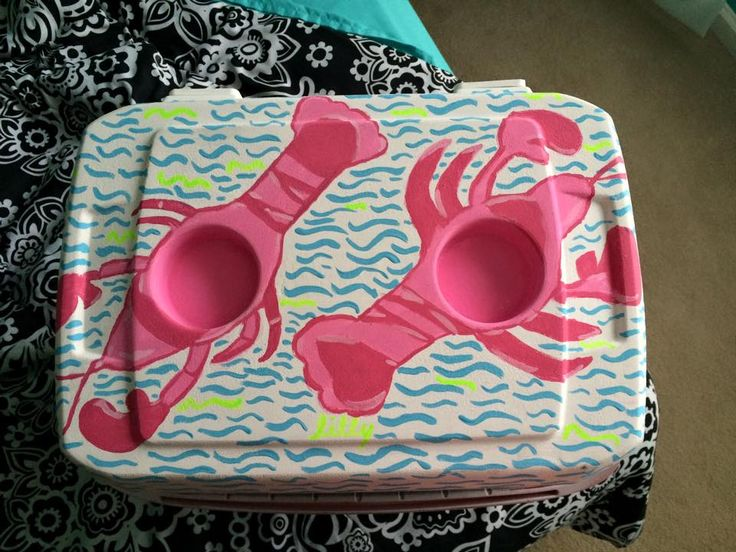 Lilly Pattern Cooler | The Cooler Connection on Pinterest
