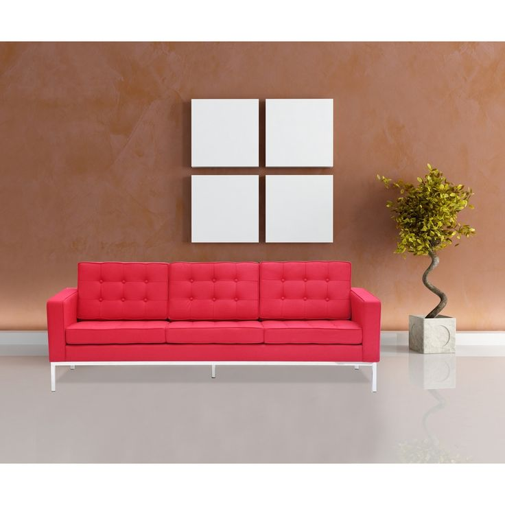 Fine Mod Imports Button Sofa in Wool