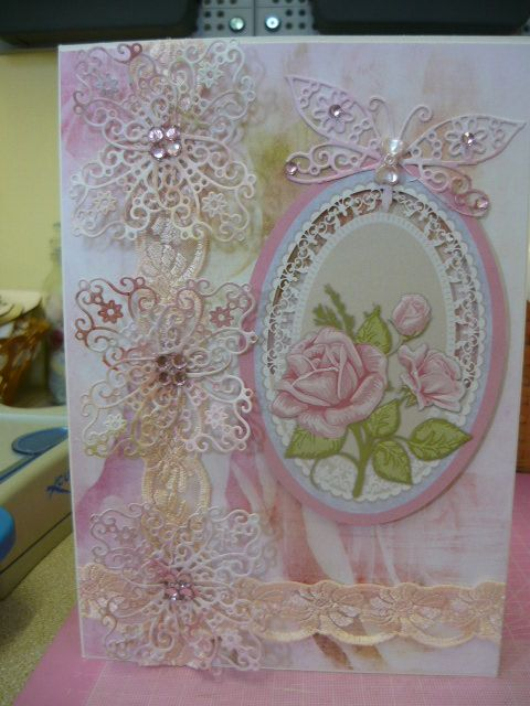 Lace Card Making Ideas Part - 18: Another Tattered Lace Card