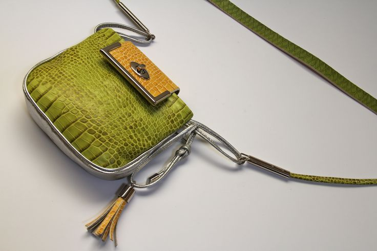 Small, leather cross body bag- Ewa Wajnert