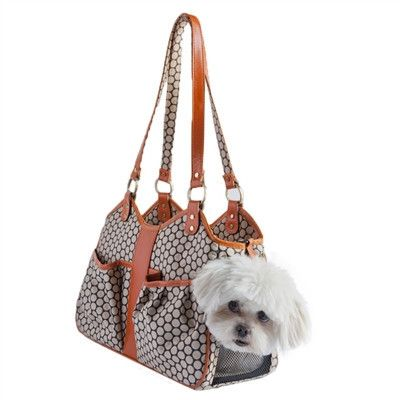 Petote Metro Couture Small Dog Bag - Step out in style with the Metro Couture Bag from Petote. This beautiful bag features high-quality leather trim and is available in Tangerine or Black Cherry. What looks like a designer handbag, is really a gorgeous carry bag for your little bundle of fur.