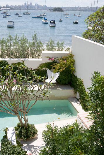 contemporary harbourside garden