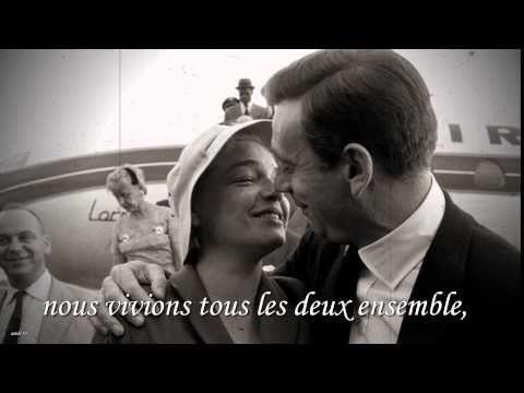 Les feuilles mortes - Yves Montand - Autumn Leaves - avec paroles lyrics...