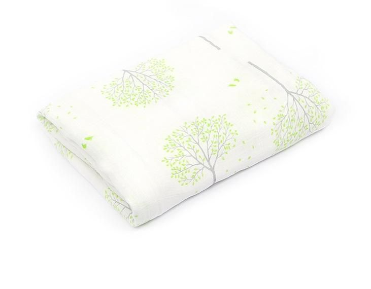 Bamboo Muslin Swaddle - Gentle Nature Edition