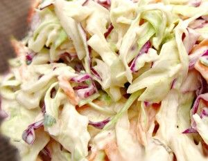 I would deem this the best ever creamy coleslaw recipe. Easy, Delicious and a great pairing to pulled pork, Hamburgers or any other BBQ meal!