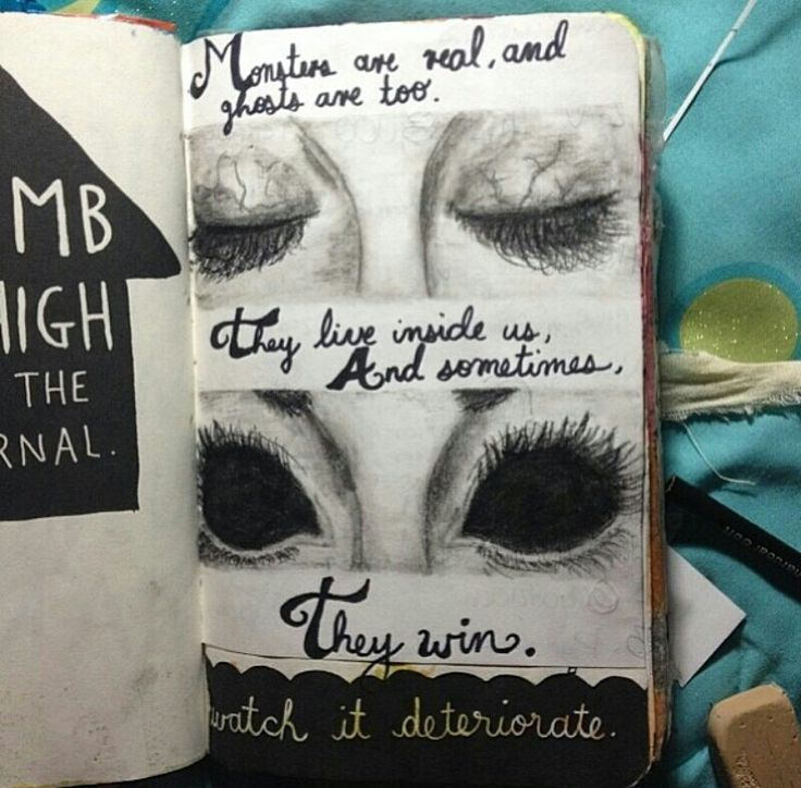 Wrexk this journal ideas black white eyes climb