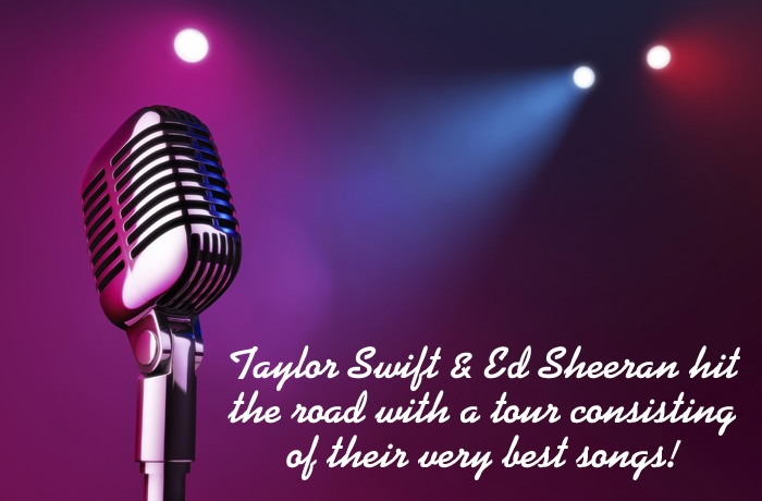 Taylor Swift & Sheeran's live performances are worth seeing So buy concert tickets, and witness their magical music live.  www.ticketluck.com