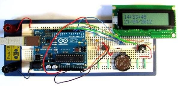 Tutorial 16: Arduino Clock  In this tutorial, the Arduino displays the time and date on a LCD (optional) and in the Arduino IDE serial monitor window. A PCF8563 real time clock (RTC) IC is used to generate the time and date. For more detail: http://duino4projects.com/tutorial-16-arduino-clock/ Please like & share: Arduino Projects Tutorial Code Keep Visiting: http://duino4projects.com #thearduinoshop
