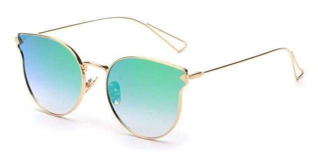 ROYAL GIRL Fashion Brand Designer Sunglasses Women Reflective Mirror Sun Glasses metal Frame Arrow Leg Glasses UV400 ss491 Eyewear Type: SunglassesItem Type: