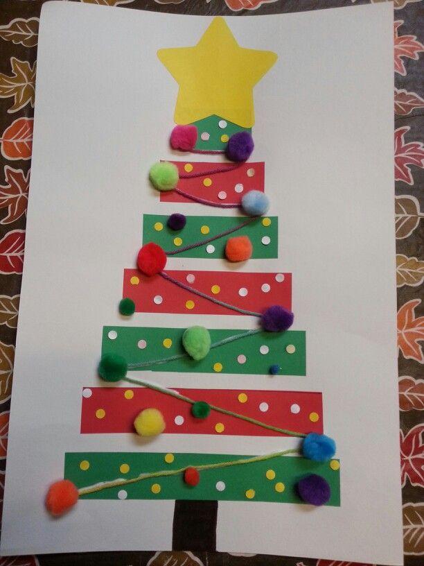 Christmas Tree Crafts Kindergarten : Pre k christmas tree craft crafts trees
