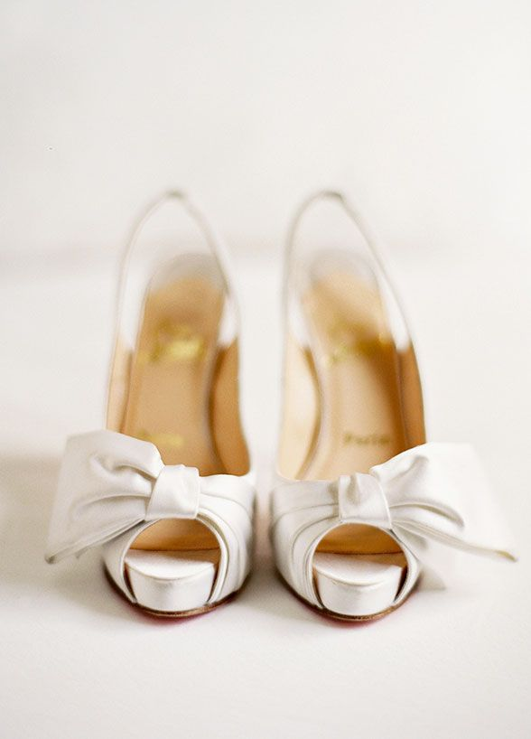 This Pair Of Cream Color Bridal Shoes Are So Classic And Beautiful