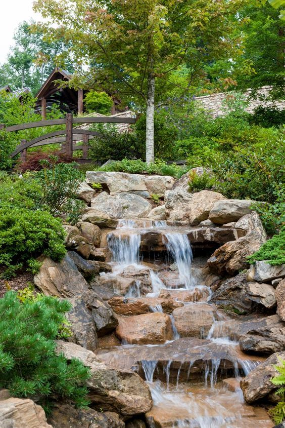 877 best backyard waterfalls and streams images on for Waterfall garden feature