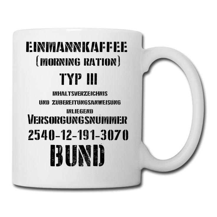 Einmannkaffee Tasse Bundeswehr (EPA)