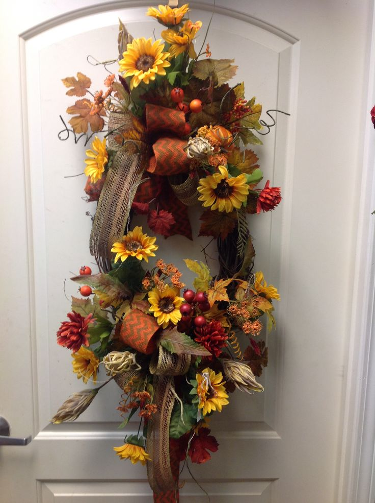 Fall sun flower wreath