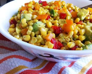 Summer Corn Salad with Soy Lime Dressing -- a delicious summer treat courtesy of foodie Rachael Stuart!