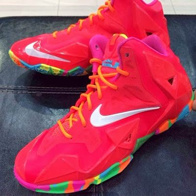 Fruity Pebbles LeBron James Shoes | ... 1308743006 n Nike LeBron XI (11) GS Fruity Pebbles First Look