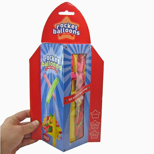Take off with a screaming sound and zoom around the room. Suitable to be used again and again. #rocket #balloon #coolthingsaustralia http://www.coolthings.com.au
