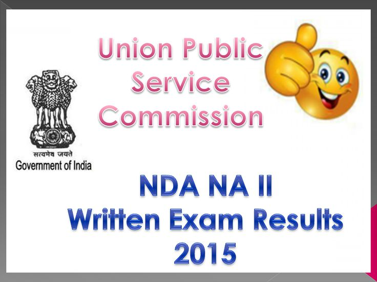Check UPSC NDA II Result 2015 National Defence Academy Result @ Upsc.gov.in : The Union Public Service Commission UPSC Regularly organised The examination for NATIONAL DEFENCE ACADEMY & NAVAL A…