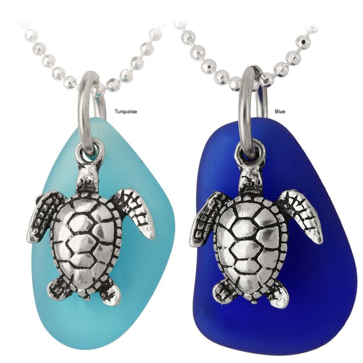 Turtle+&+Seaglass+Necklace+at+The+Animal+Rescue+Site