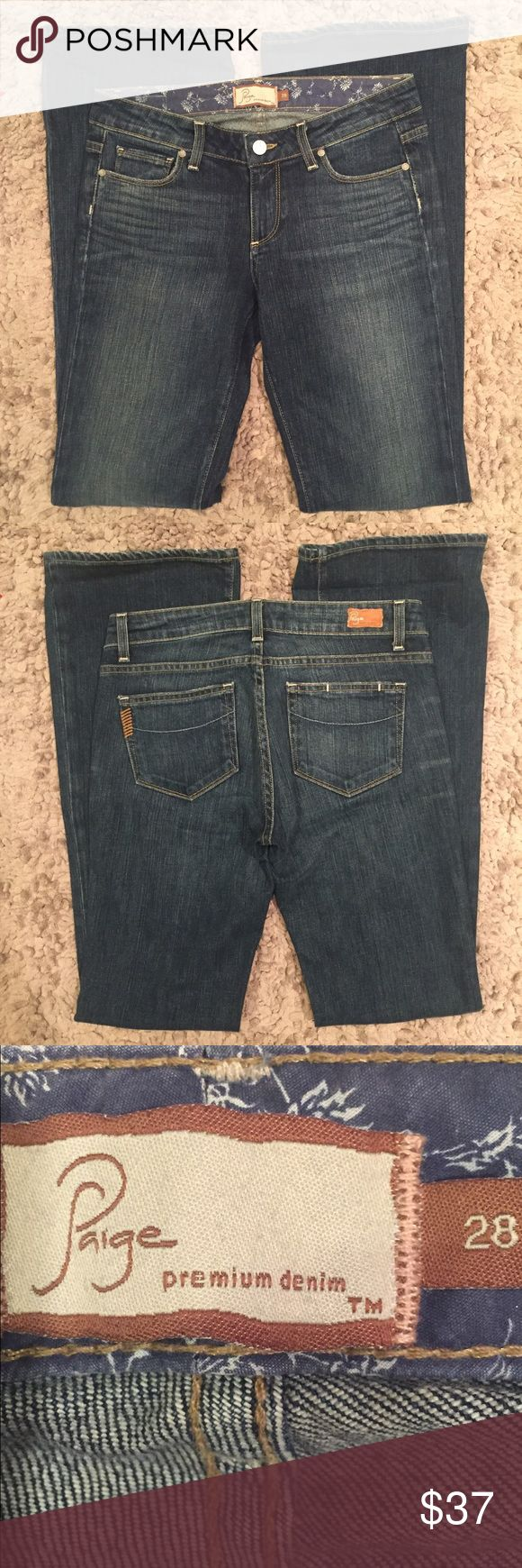 Paige premium denim jeans...Size 28 Paige premium denim jeans...Size 28 in excellent condition from a smoke free home! Paige Jeans Jeans