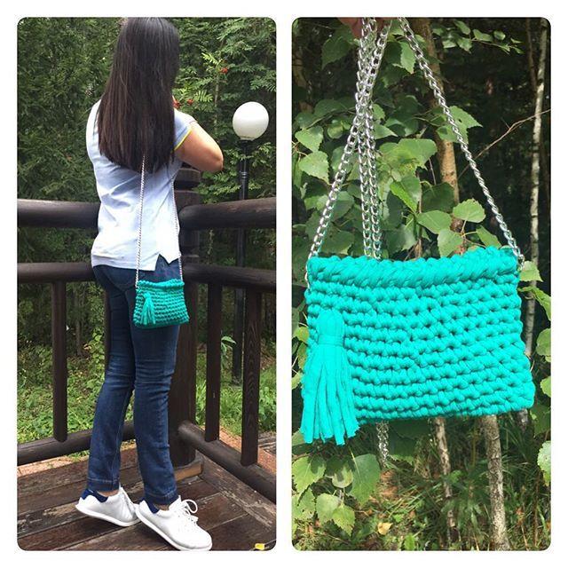У моих сумочек появилась модель, моя подруга Сумочка связана для девочки подростка на день рождения. #yatim78_hand_made#вязанаясумка#ручнаяработа#lentaknit#вязание
