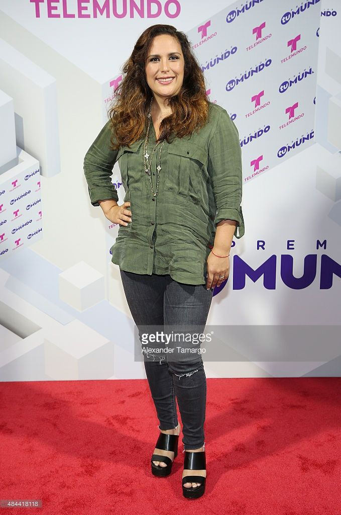 Angelica Vale poses at the Premios Tu Mundo press conference at American Airlines Arena on August 18, 2015 in Miami, Florida.