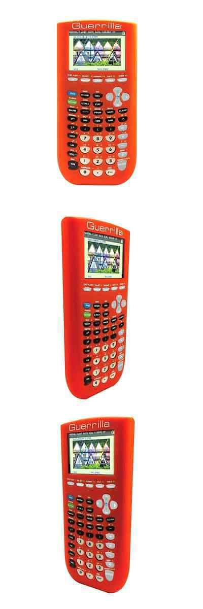 Calculators: Silicone Case Texas Instruments Ti 84 Plus C Silver Graphing Calculator Orange BUY IT NOW ONLY: $64.13