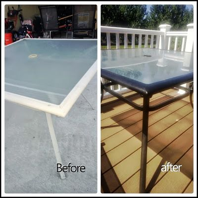 Old Patio Set Made New With Rustoleum Oil Rubbed Bronze Metallic Spray  Paint. #DIY