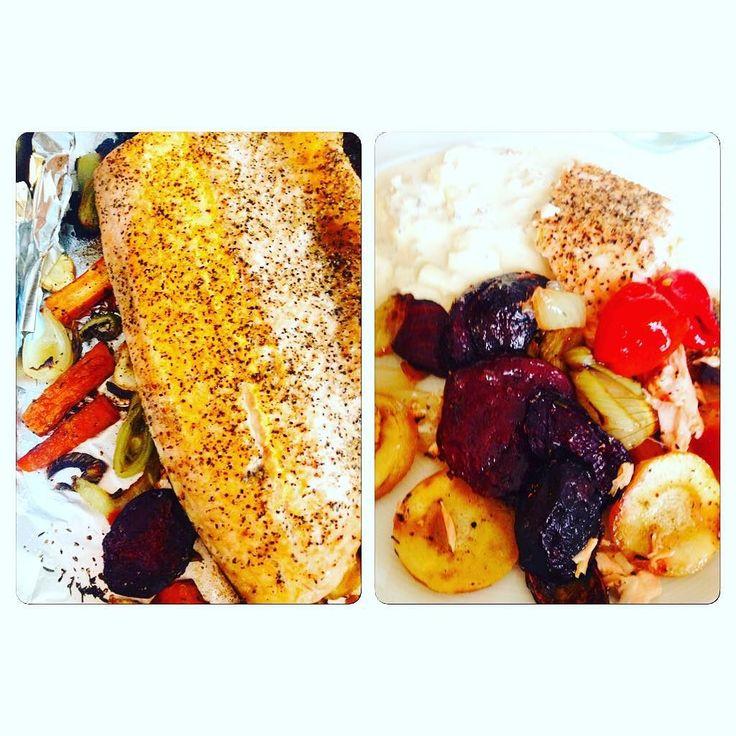 Laxsida med rotfrukter #lchf #lchfklubben #lchffunkar #lowcarb #lowcarbhighfat #eat #äta #lax#ketos #ketosdiet #dinner #diet #minresa #middag by ulle_thoresson