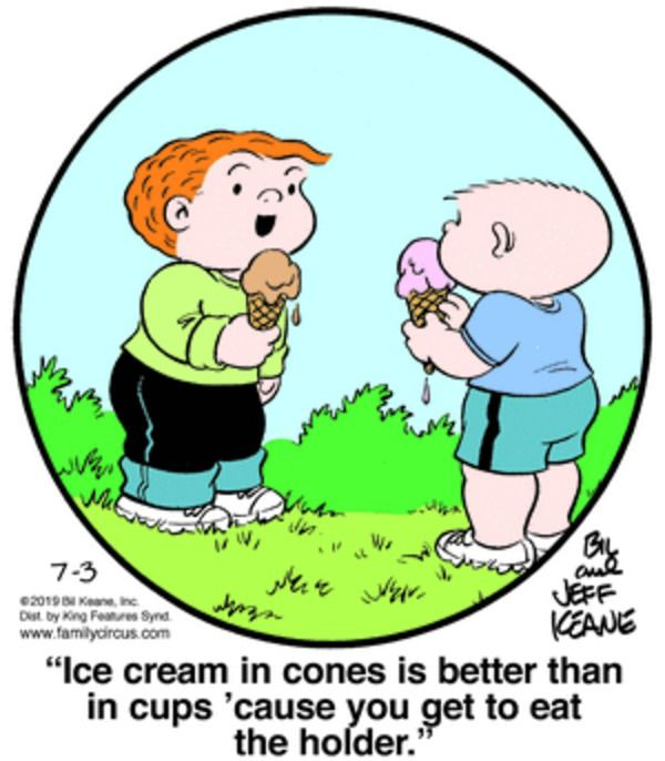 Ice Cream Family Circus For 7 3 2019 Family Circus Family Circus Cartoon Family Circus Comics