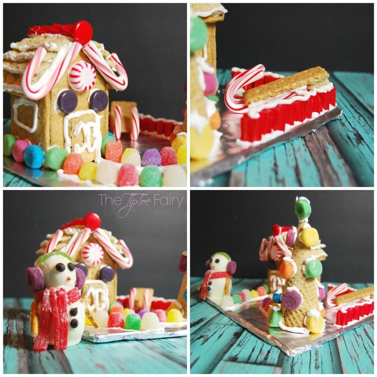 A perfect holiday treat! Make a Graham Cracker House (or gingerbread houses) and Snowmen peanut butter cookie dough truffles for Christmas decorating!   The TipToeFairy #PBandG #ad #gingerbreadhouse