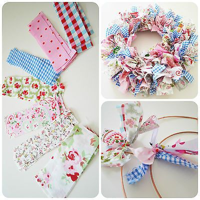Make Your Own Handmade Shabby Chic Rag Wreath