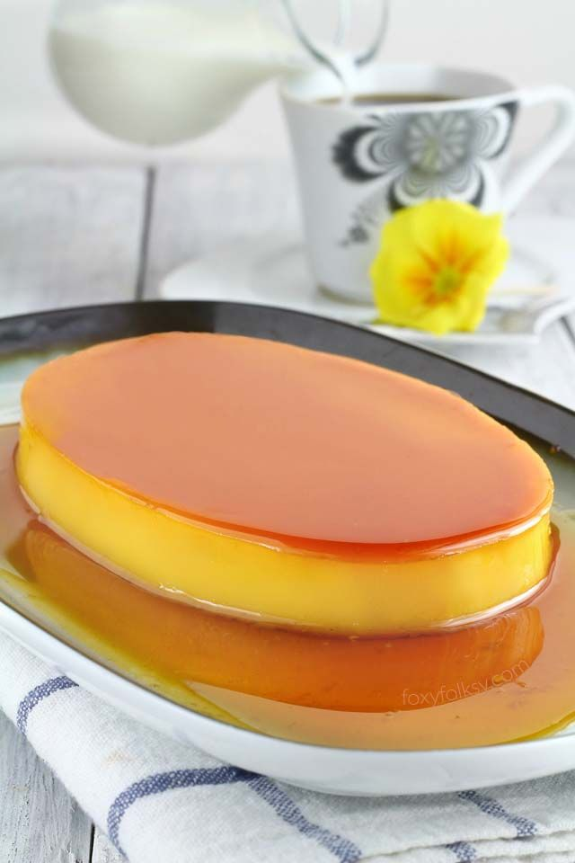 Learn the secret to a perfectly smooth and creamy Leche Flan. Get recipe here! | www.foxyfolksy.com