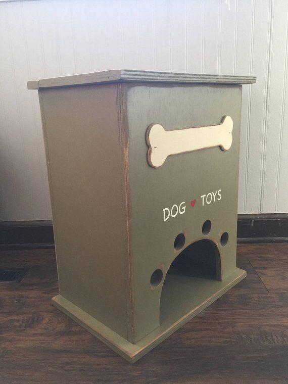 Xl Dog Toy Box Dog Toys Dog Box Etsy Dog Toy Box Dog Toys