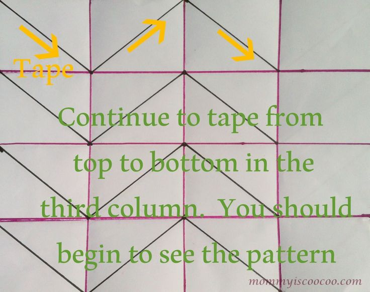 How to paint a Chevron Stripe