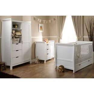 Buy Obaby Lincoln Sleigh 3 Piece Nursery Furniture Set - White at Argos.co.uk, visit Argos.co.uk to shop online for Nursery furniture sets