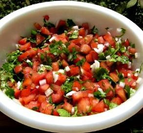 "Pico de Gallo: ""This was wonderful! Pico de Gallo should be simple, and this was. It certainly didn't lack in flavor. I loved it and will definitely make this again!"" -RedVinoGirl"