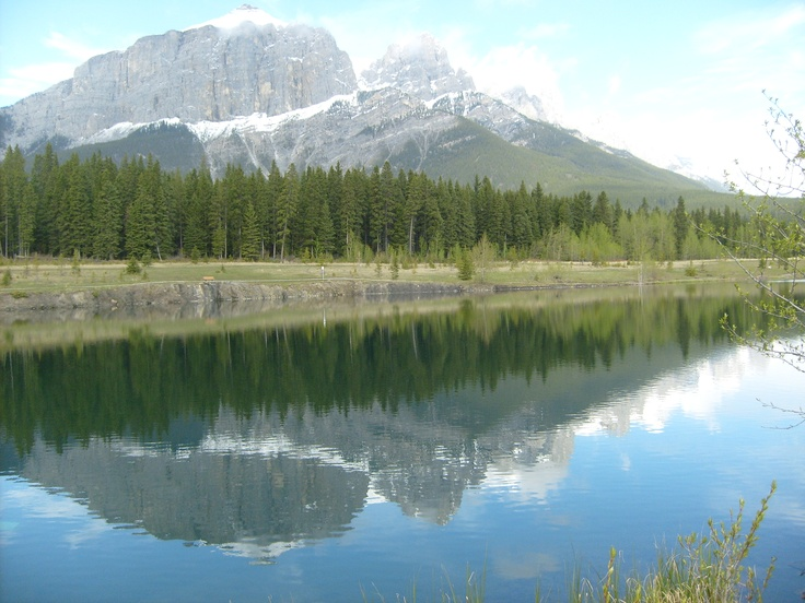 Quarry Lake in Canmore Alberta Canada
