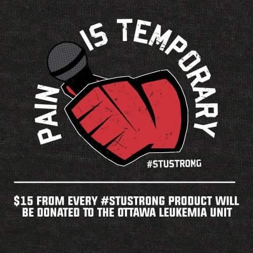 Our man Stuntman Stu is fighting the battle of his life right now - the battle against leukemia. For more information on how to make a donation to the Ottawa Hospital for leukemia and stem cell research, and to purchase #StuStrong merchandise, go to stustrong.ca .
