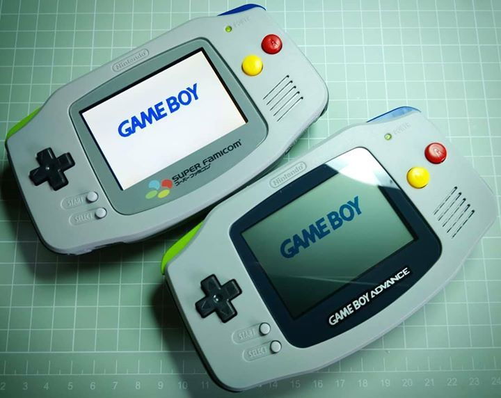 Custom painted Gameboy Advance ags101 screen mod t