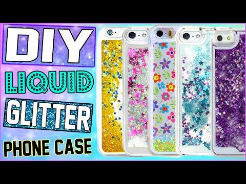 DIY Liquid Glitter iPhone Case! | Make Your Own Water Filled Phone Case! | Cheap & Easy To Make! - YouTube