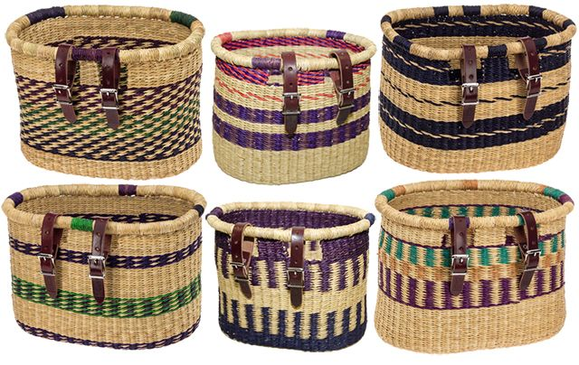 Asungtaba Bike Baskets-made by artisans in a developing country as a sustainable product. By HouseofTalents.com
