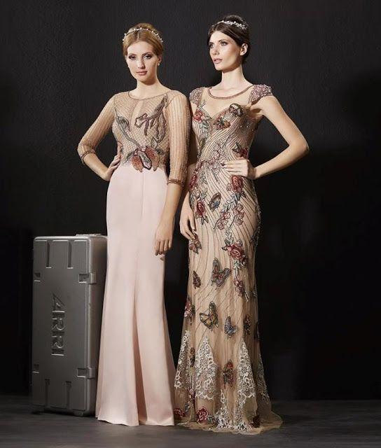 vestido de festa nude rose