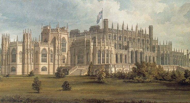 Eaton Hall, Cheshire, England - the country house of the Duke of Westminster.