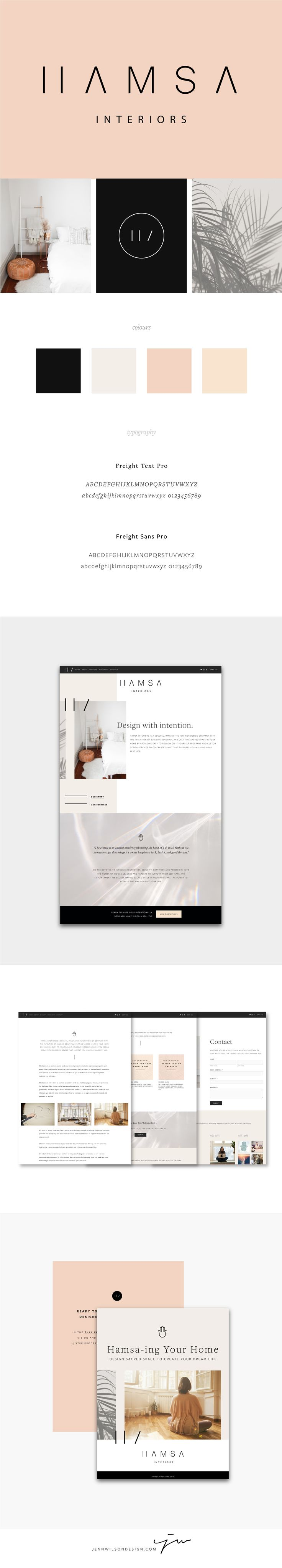 Brand Identity And Website Design For Hamsa Interiors // Clean, Minimalist  Design //